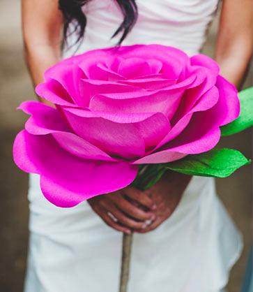 Гигантские цветы из бумаги своими руками