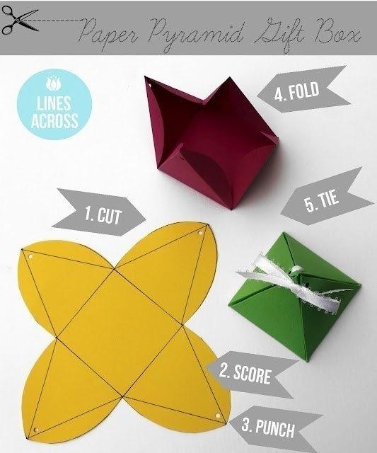 Как сделать своими руками коробку из бумаги