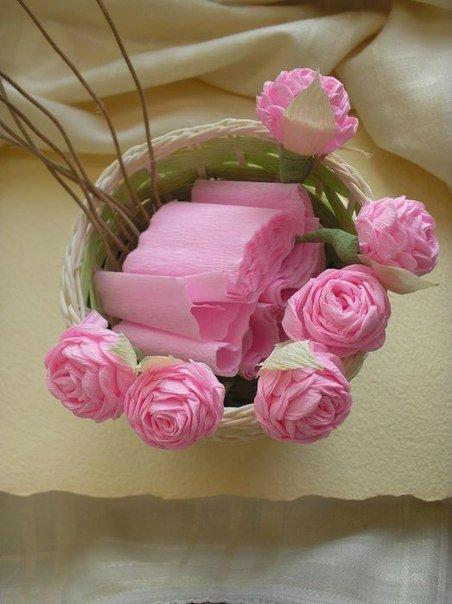 Цветы из гофр бумаги