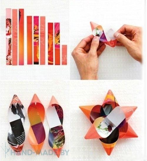 Как сделать бант на подарок с бумаги