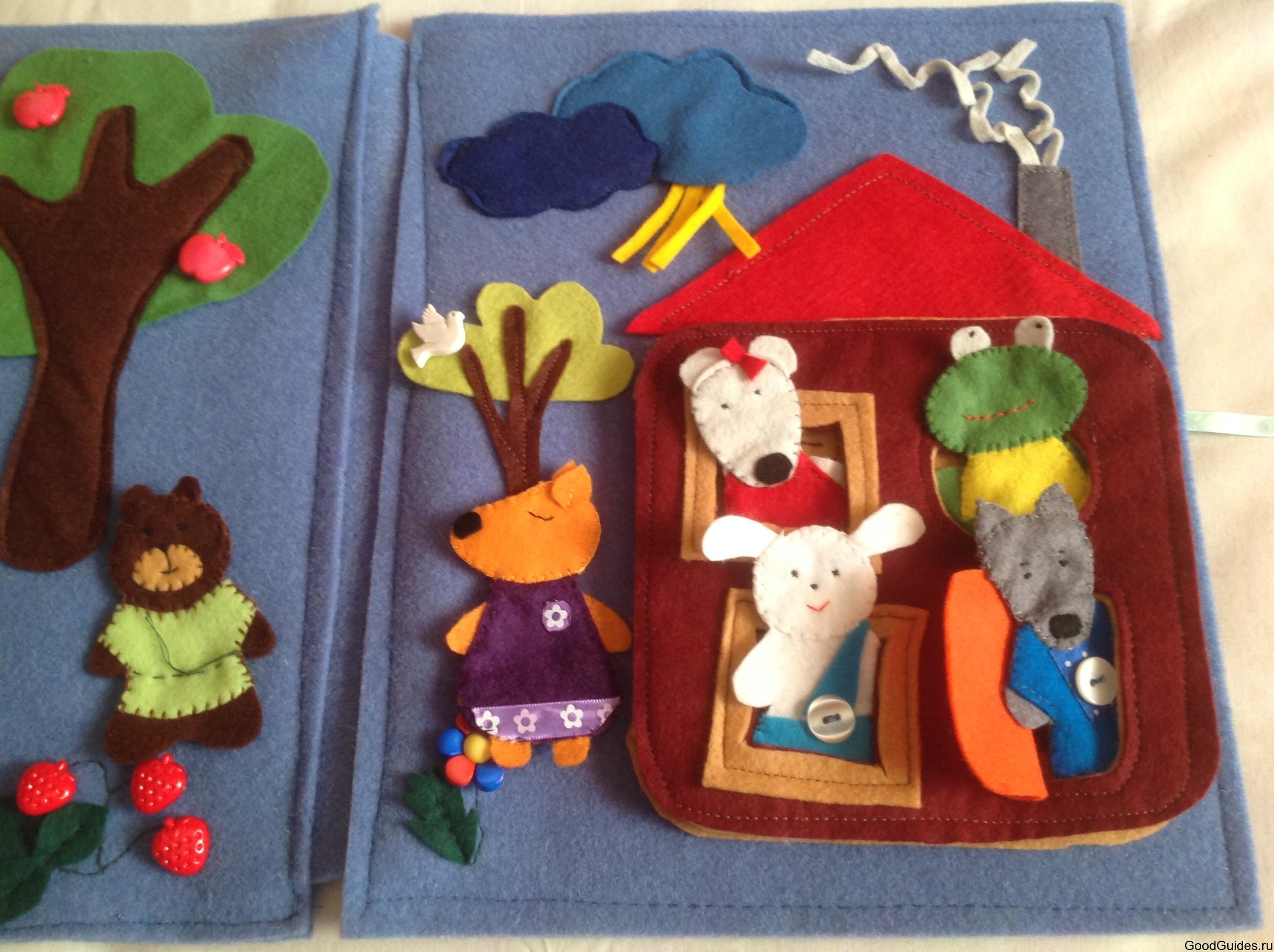 Развивающие игрушки для малышей из фетра своими руками