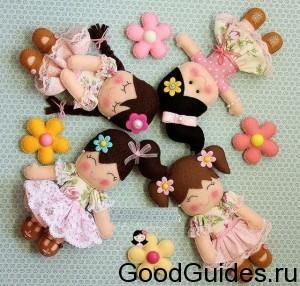 кукольки из фетра