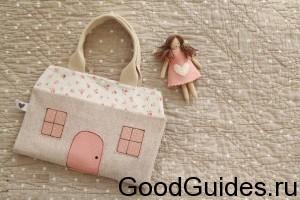 домик для куклы из ткани