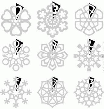 снежинки из бумаги. 11